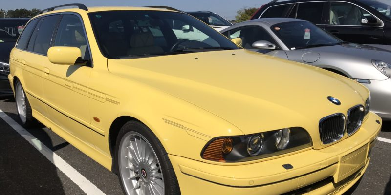 Alpina B10 V8S Touring, only one made in Dakar Yellow!